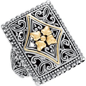 Two-Tone Design Fashion Ring