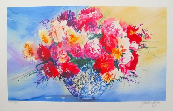 CLAUDE MARS SPRING BOUQUET IV HAND SIGNED LIMITED ED.