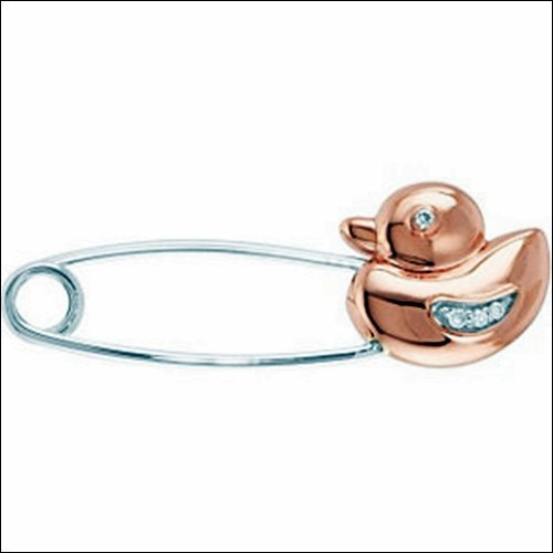 Youth Duck Brooch with Diamonds