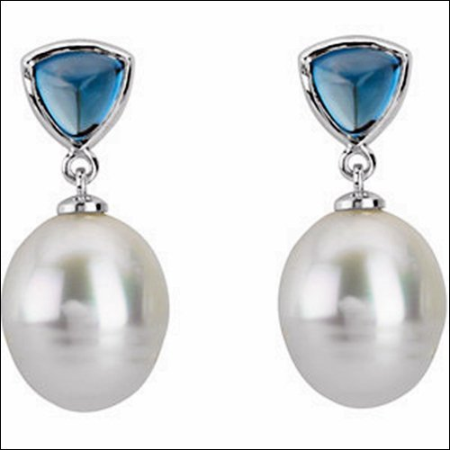 Paspaley Cultured Pearl & Genuine London Blue