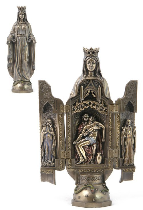?ADY OF GRACE?WITH POLYPTYCH SCULPTURE OF PIETA -