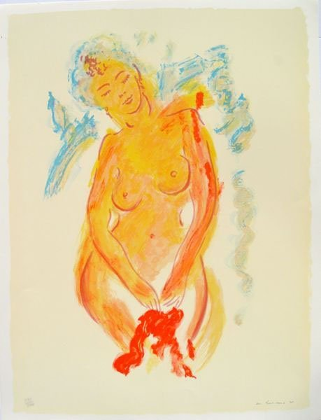 WAYNE ENSRUD NUDE HAND SIGNED LITHOGRAPH