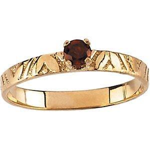 Youth Genuine Birthstone Ring