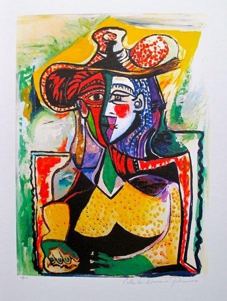 #098 PORTRAIT OF A WOMAN PICASSO ESTATE SIGNED GICLÉE