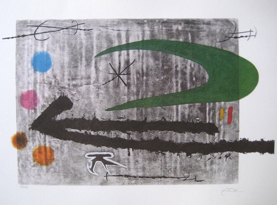 JOAN MIRO TOWARD THE LEFT LIMITED ED. FACSIMILE SIGNED