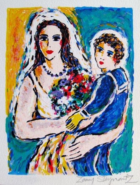 ZAMY STEYNOVITZ BRIDE WITH CHILD HAND SIGNED LIMITED