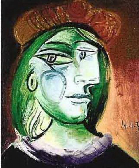 #100 LADY WITH GREEN HAIR PICASSO ESTATE SIGNED GICLÉE