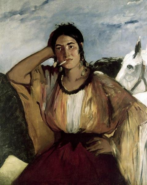 EDOUARD MANET - GYPSY WITH A CIGARETTE (INDIAN WOMAN