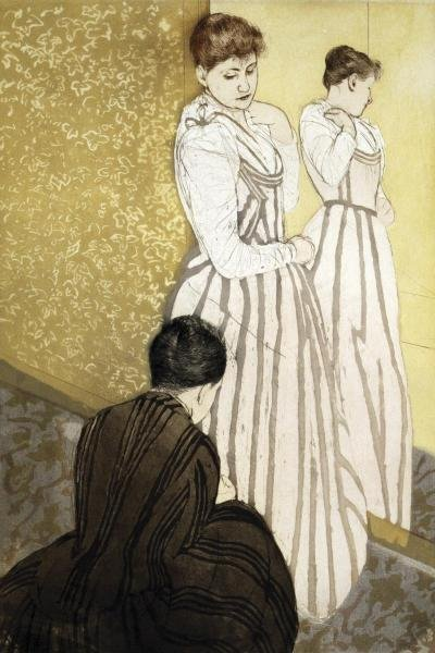 MARY CASSATT - THE FITTING