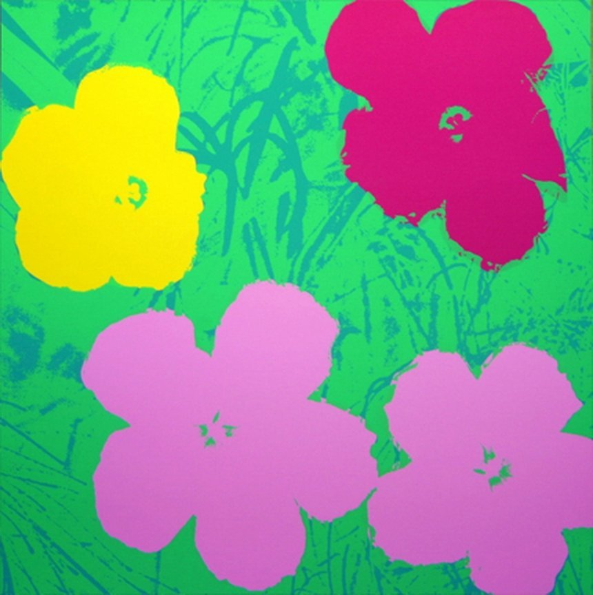 ANDY WARHOL  FLOWERS  SUNDAY B. MORNING