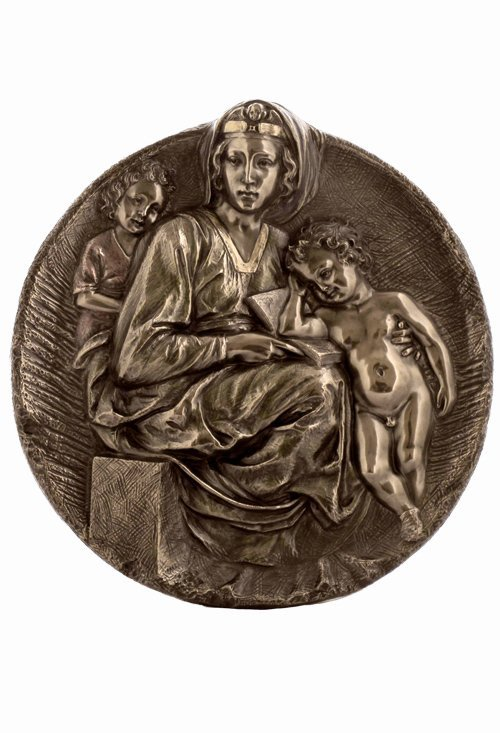 "?HE PITTI MADONNA"" WALL PLAQUE - BRONZE"