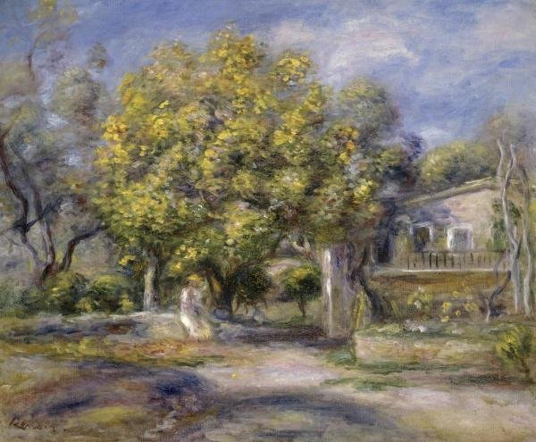PIERRE AUGUSTE RENOIR - HOUSES AT CAGNES
