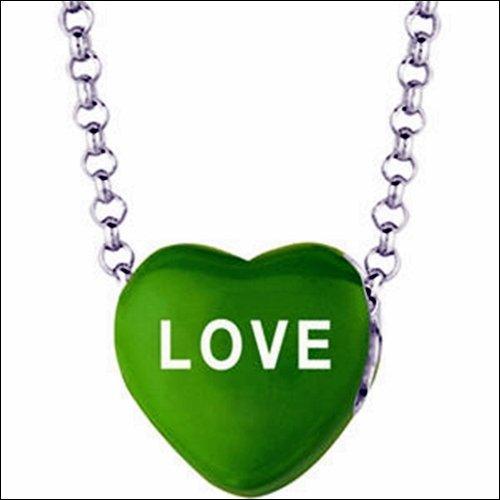 SWEETHEARTS ENAMEL HEART SHAPED NECKLACE