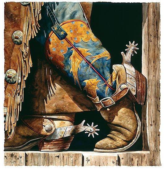 COWBOY FISHIN´ BOOTS - BY NELSON BOREN