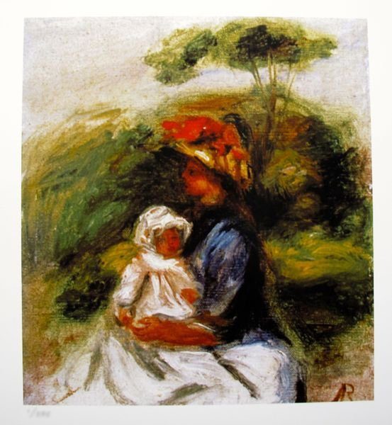 Pierre Auguste Renoir MOTHER & CHILD Limited Ed. Giclee