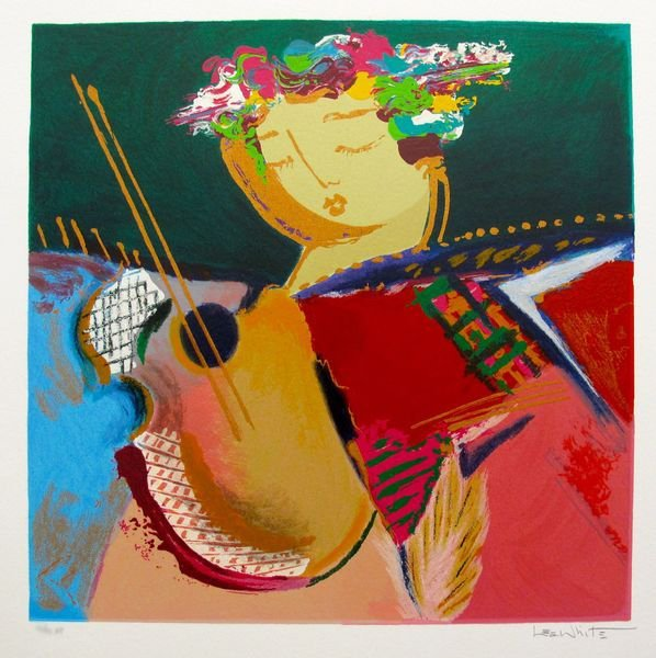Lee White SERENADE I Hand Signed Limited Ed. Serigraph