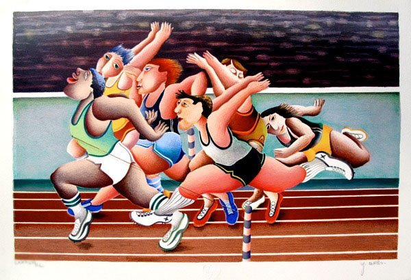Yuval Mahler 100 METERS Hand Signed Limited Ed.