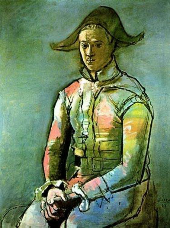 #083 SEATED HARLEQUIN Picasso Estate Signed Giclée