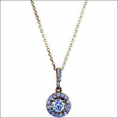 HALO-STYLED PENDANT OR NECKLACE