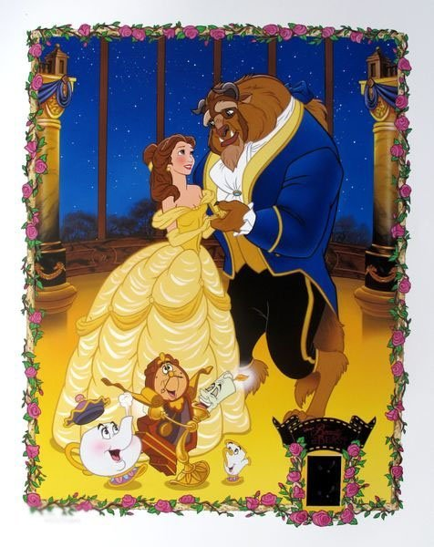 DISNEY BEAUTY AND THE BEAST Limited Ed. Lithograph with