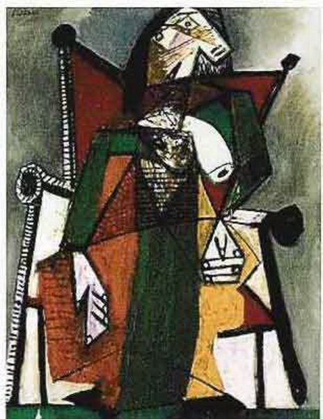 #150 FIGURE IN CHAIR Picasso Estate Signed Giclée