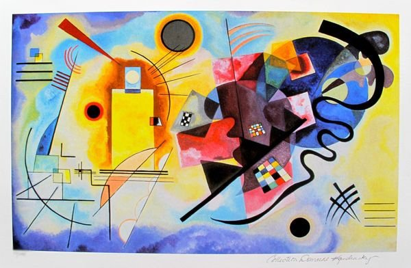 Wassily Kandinsky YELLOW, RED AND BLUE Estate Signed