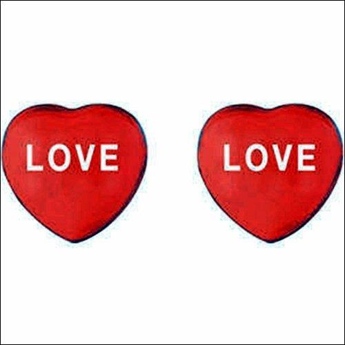 SWEETHEARTS ENAMEL HEART SHAPED EARRINGS