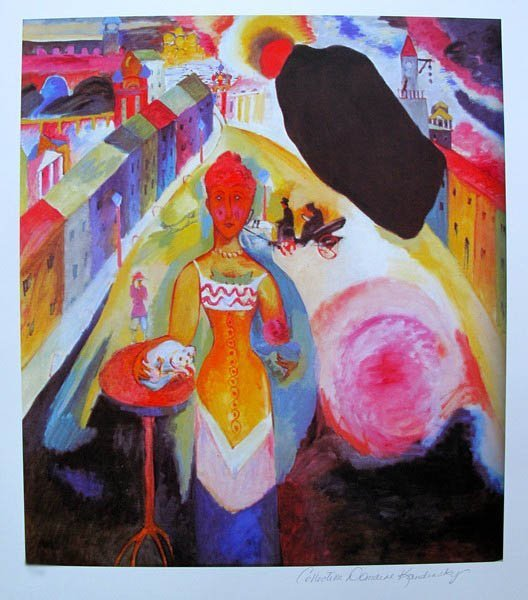 Wassily Kandinsky LADY IN MOSCOW Estate Signed Limited