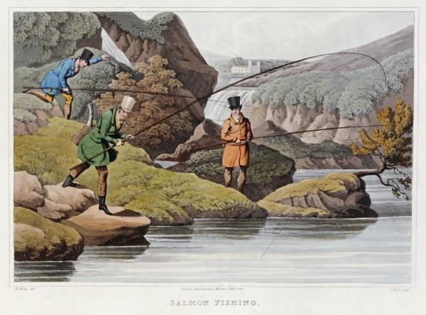 SAMUEL HENRY ALKEN - SALMON FISHING