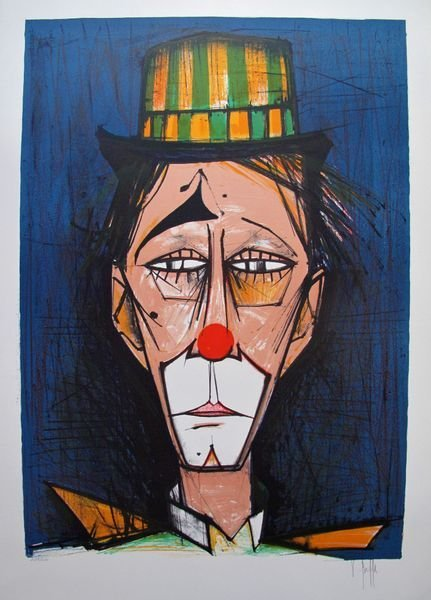 V. Beffa CLOWN Hand Signed Limited Ed. Lithograph -