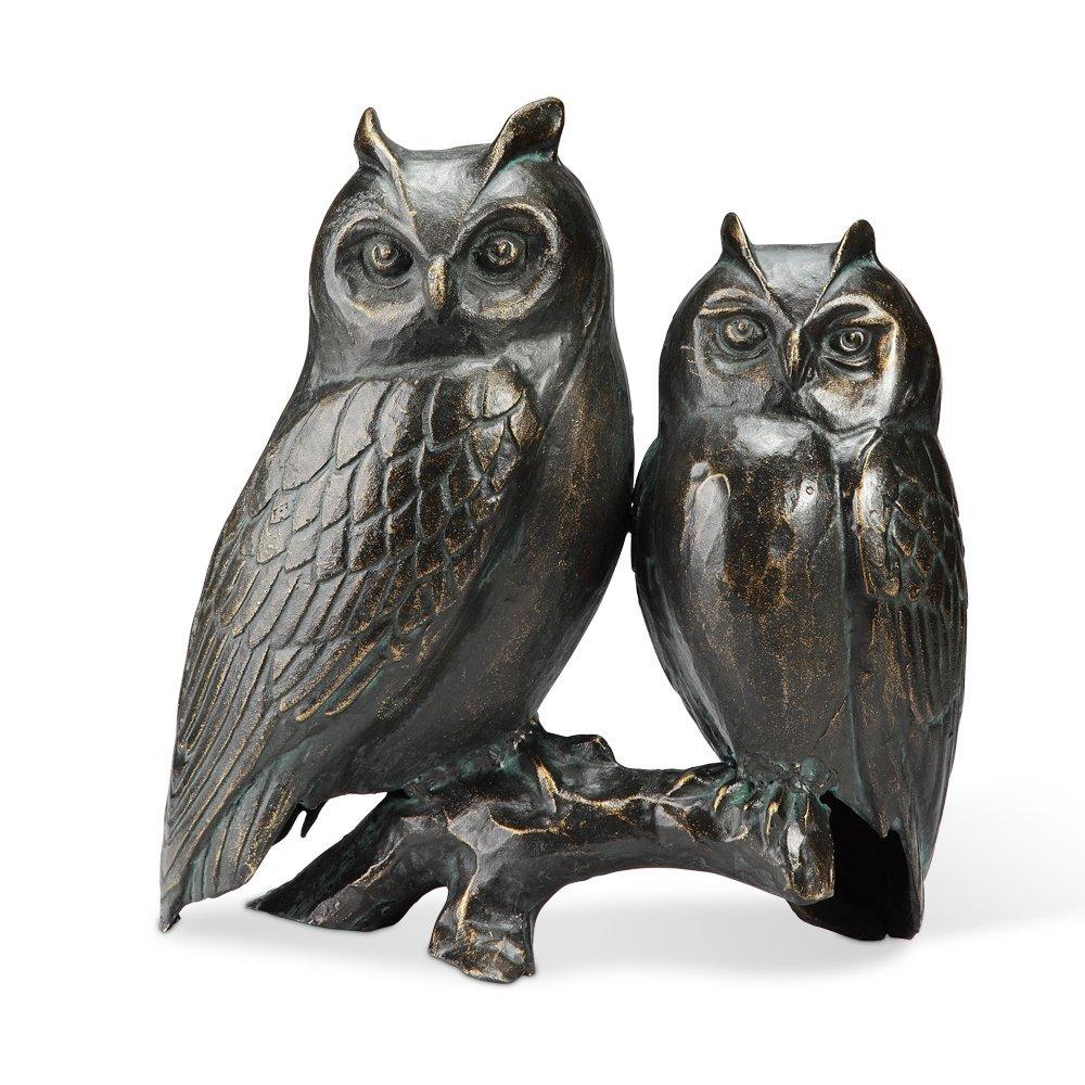 OWL PAIR ON BRANCH