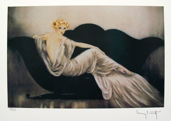 Louis Icart LOVESEAT Facsimile Signed Limited Ed.