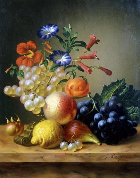 JOHANNES REEKERS - GRAPES, A LEMON, A FIG AND OTHER