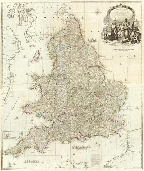 JOHN ROCQUE - COMPOSITE: ENGLAND, WALES, 1790