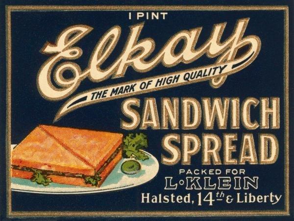 RETROLABEL - ELKAY SANDWICH SPREAD