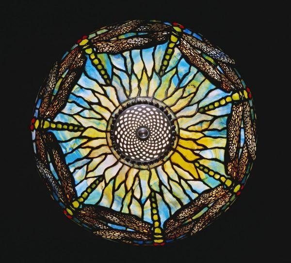 TIFFANY STUDIOS - A DETAIL FROM A RARE DRAGONFLY