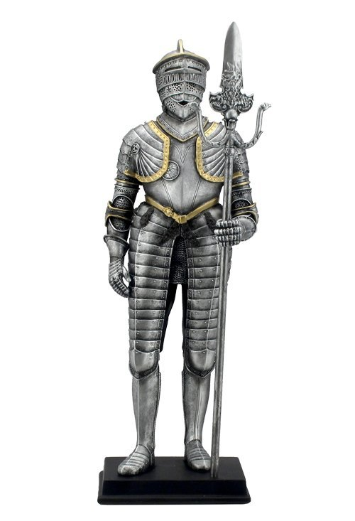MEDIEVAL ARMOR WITH KNEE-LENGTH TASSET AND PARTISAN