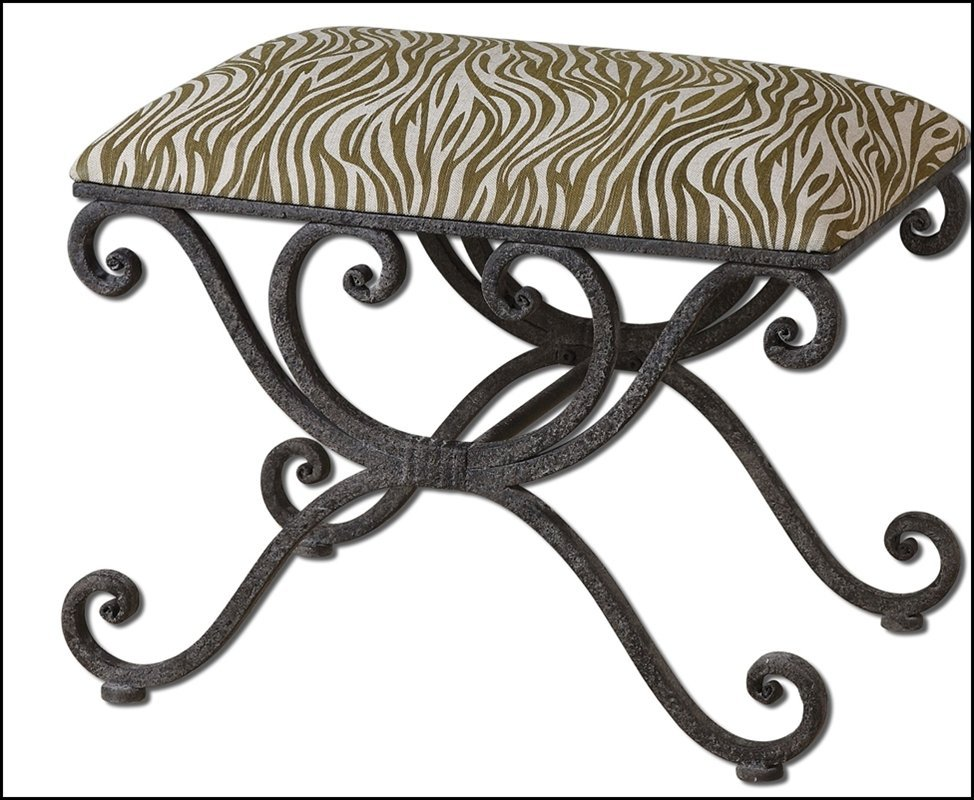 ALEARA WROUGHT IRON SMALL BENCH