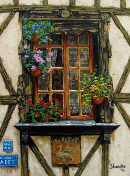 Viktor Shvaiko WINDOWS OF FRANCE Limited Ed. Hand