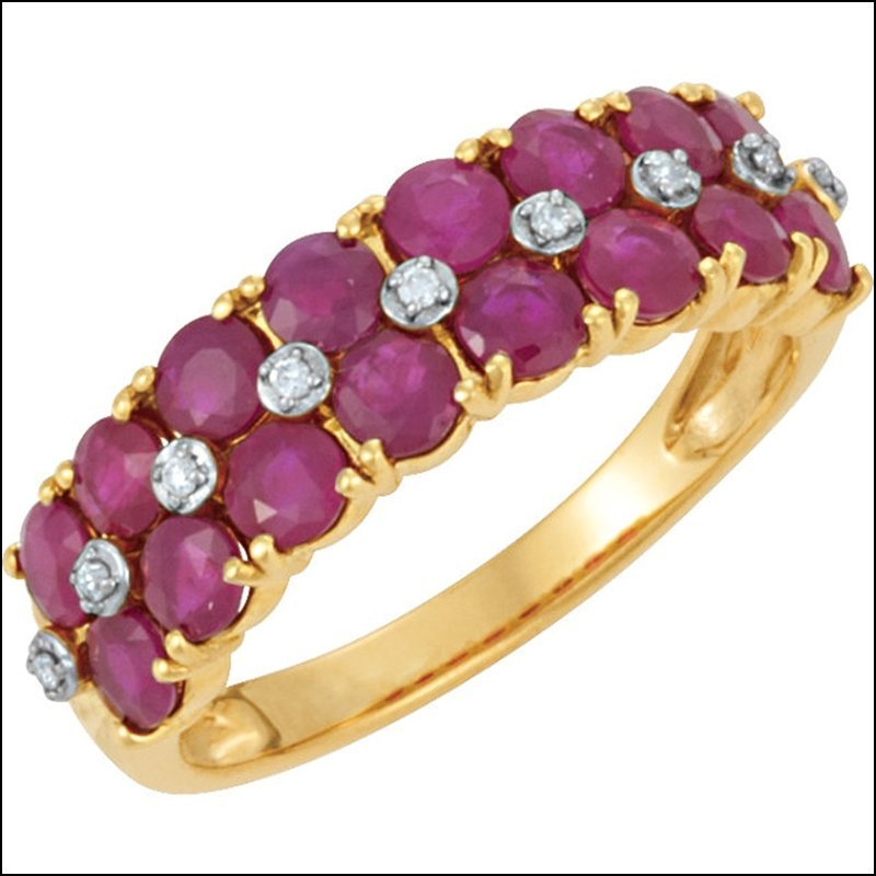 GENUINE MOZAMBIQUE RUBY & DIAMOND RING