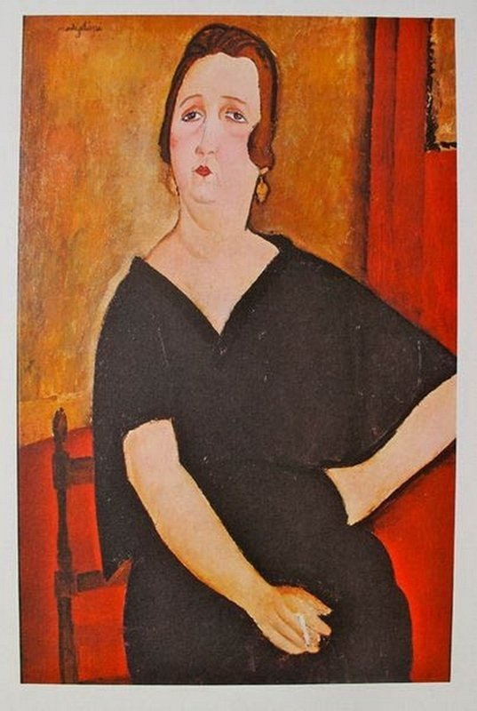 Amedeo Modigliani MME. AMADEE - WOMAN WITH CIGARETTE