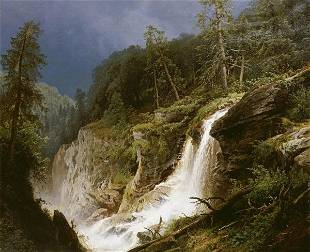 HERMANN HERZOG - WESTERN WATERFALL