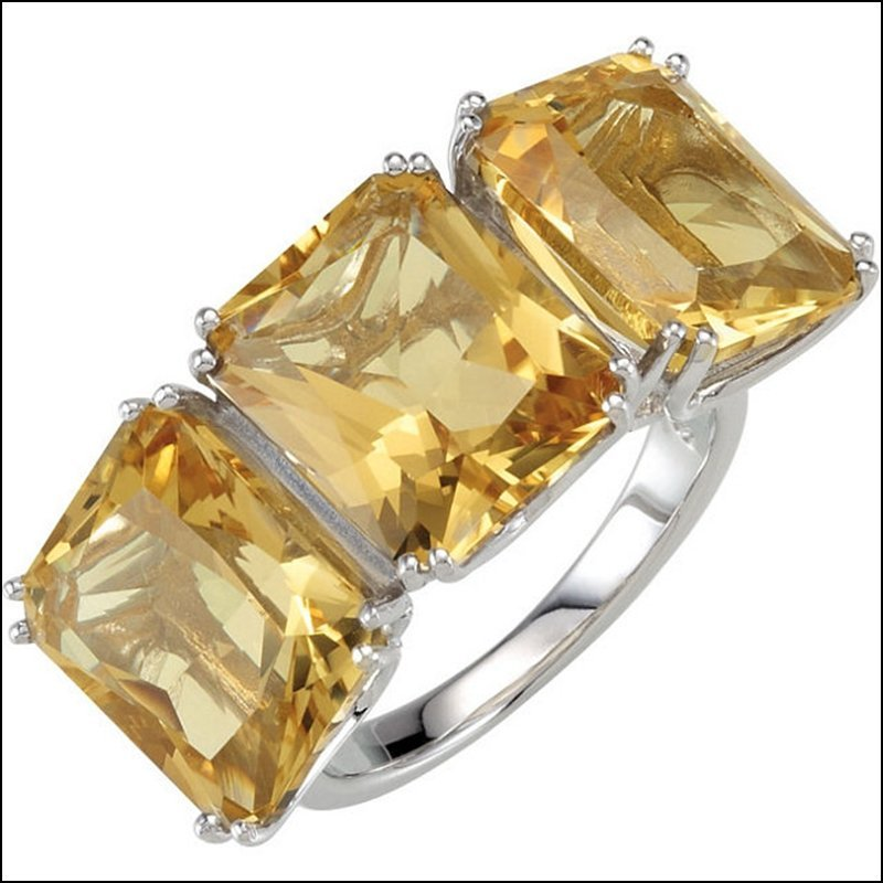 GENUINE YELLOW QUARTZ RING