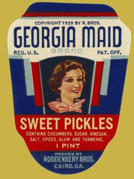 RETROLABEL - GEORGIA MAID SWEET PICKLES
