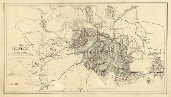 ORLANDO M. POE - CIVIL WAR MAP ILLUSTRATING THE SIEGE