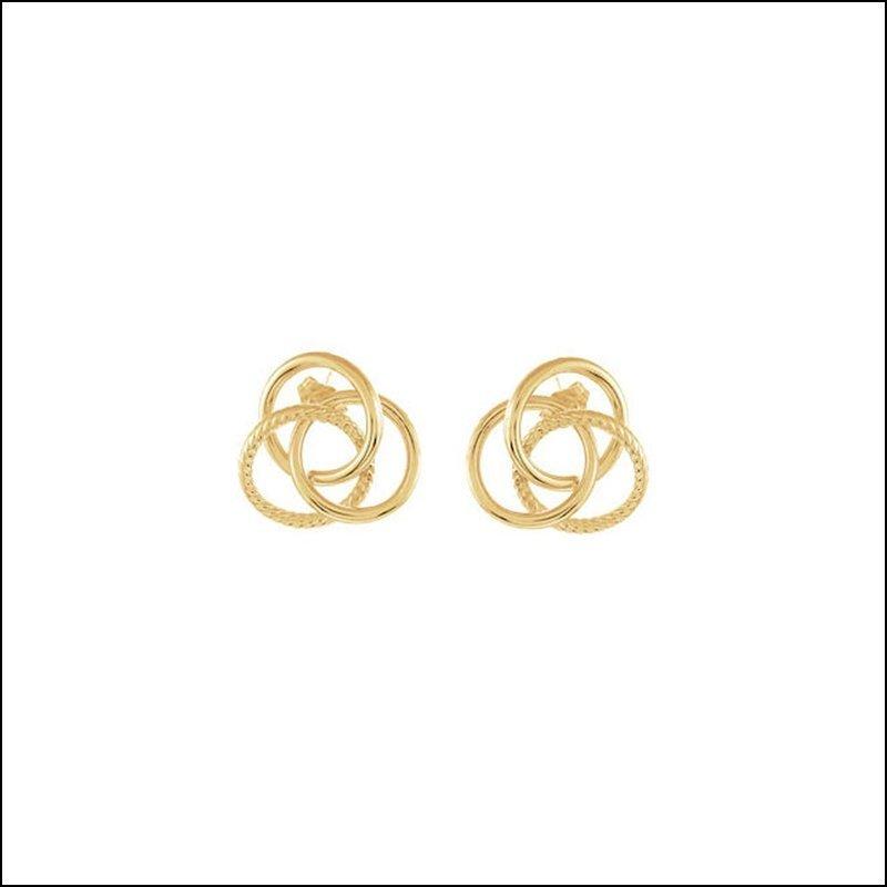 14K GOLD-CLAD STERLING SILVER KNOT EARRINGS