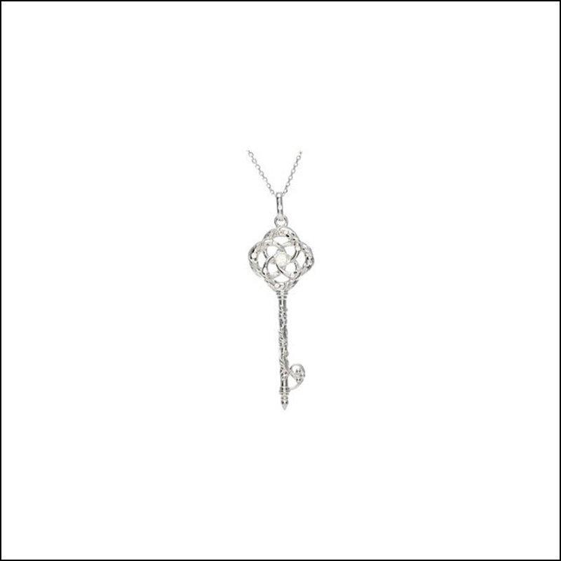 DIAMOND KEY PENDANT OR NECKLACE