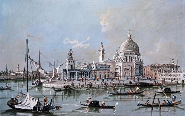 GIACOMO GUARDI - VIEW OF THE CHURCH OF SANTA MARIA