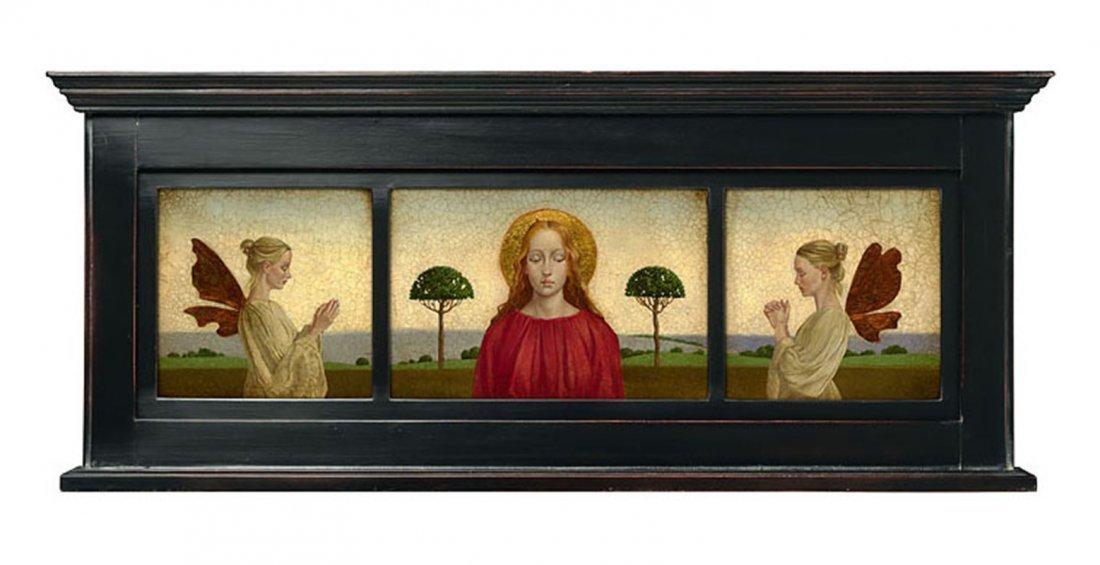MADONNA WITH TWO ANGELS FRAMED - JAMES C. CHRISTENSEN