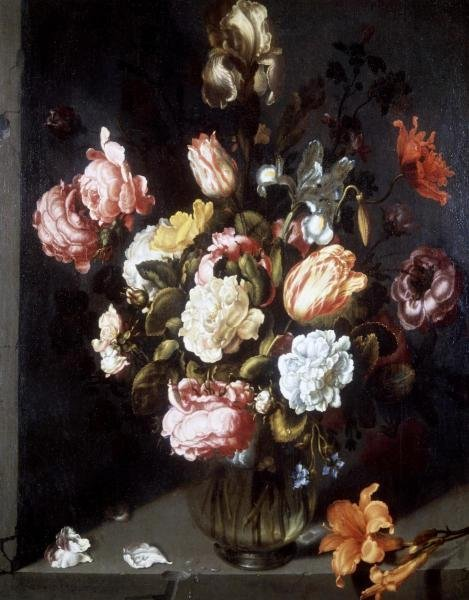 JACOB WOUTERSZ VOSMAER - TULIPS AND PEONIES IN A VASE